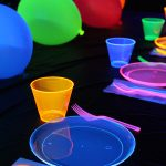 Glow party table decorations