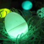 Easter eggs with glow sticks inside
